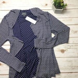 NWT Market & Spruce navy blue striped cardigan